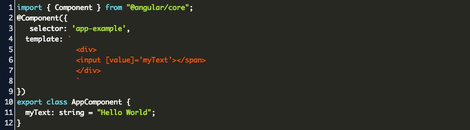Angular Property Binding Code Example