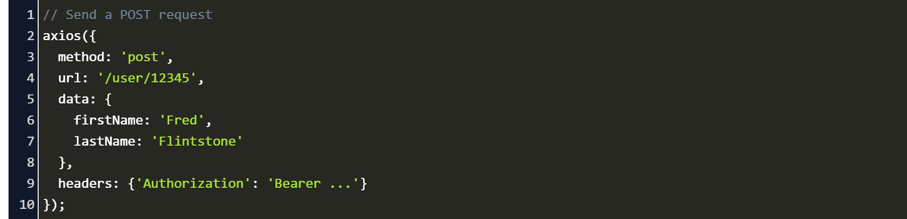 Axios Post Headers Code Example