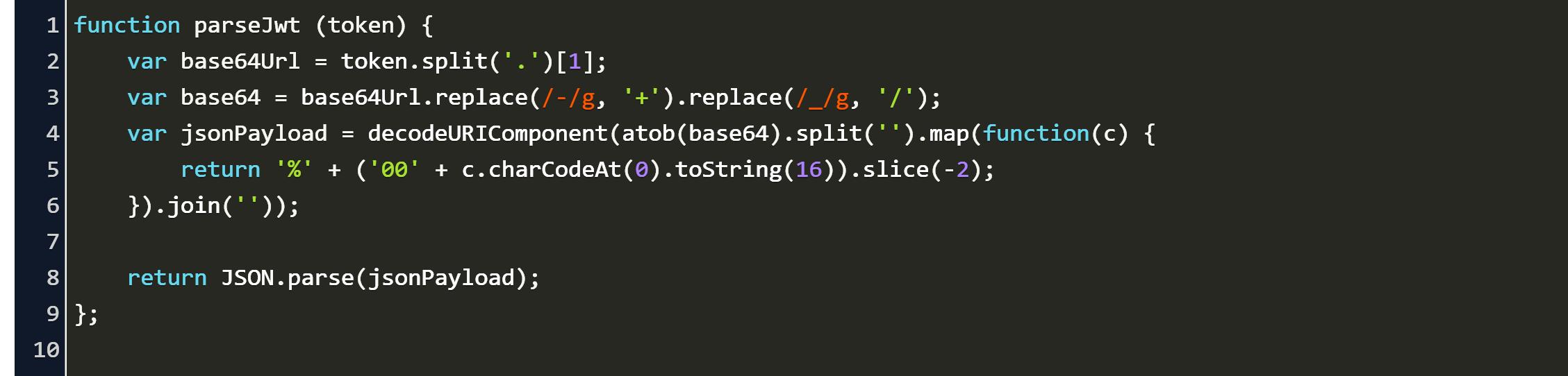 decode id_token jwt secret Code Example