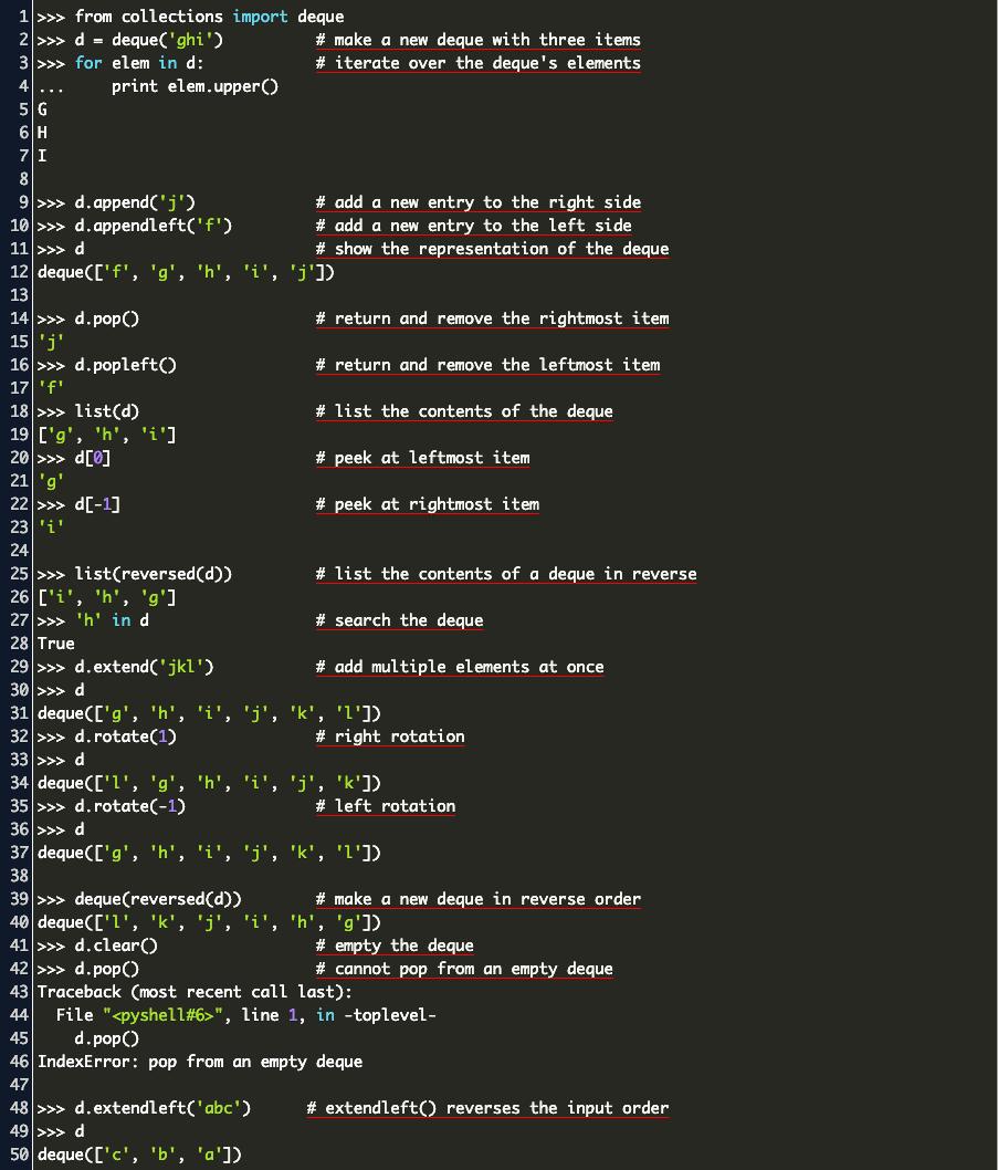 deque sort python Code Example