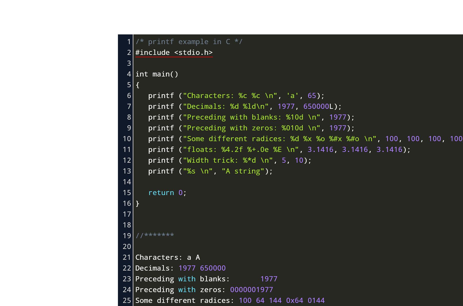 C printf format codes binary options marcia langton mining bitcoins