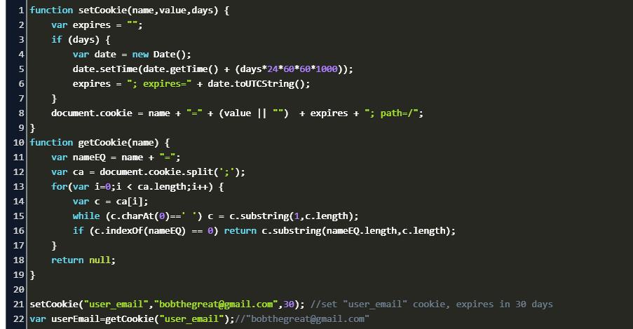 Get Cookie Javascript Code Example