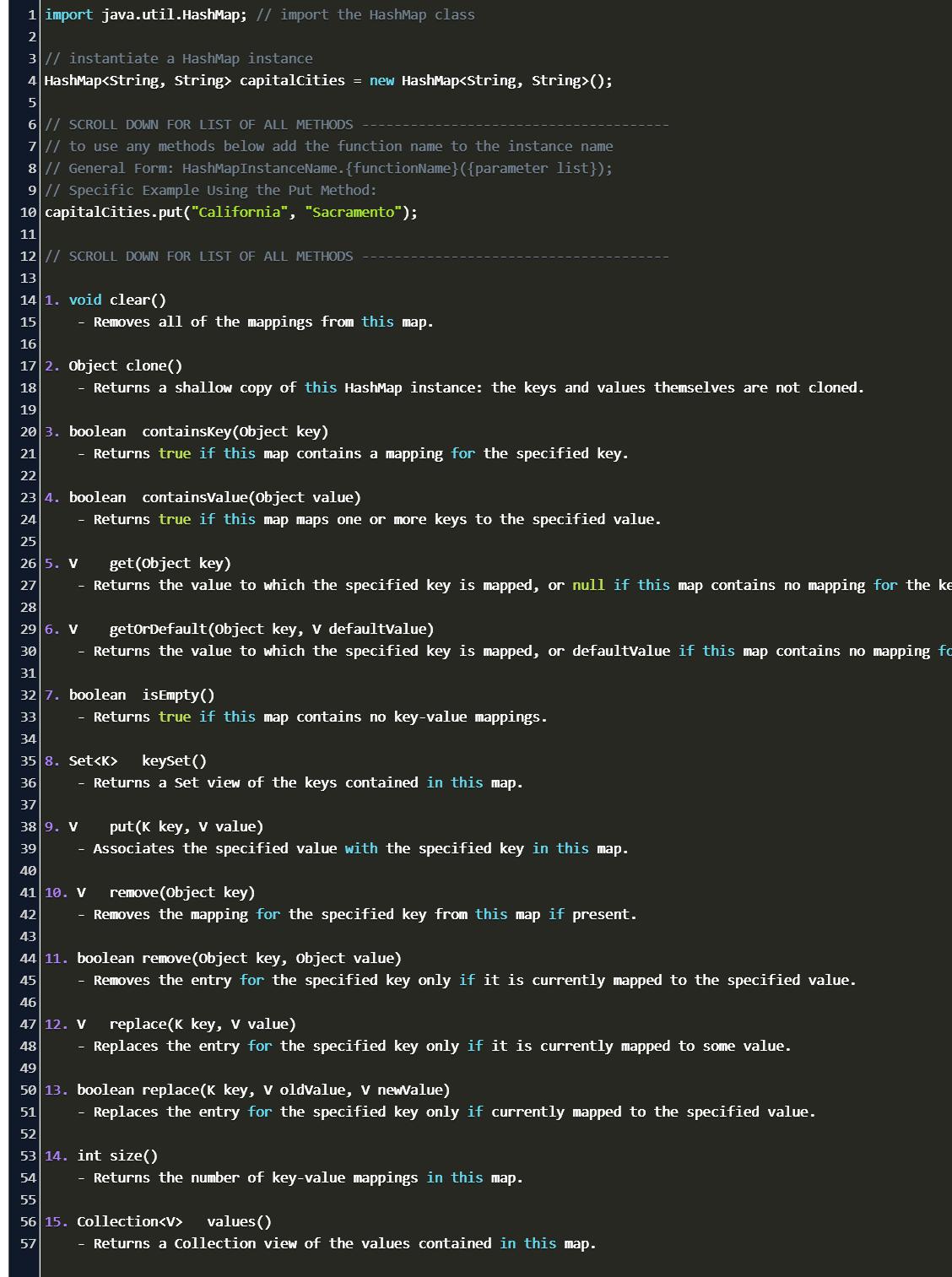 hashmap in java Code Example
