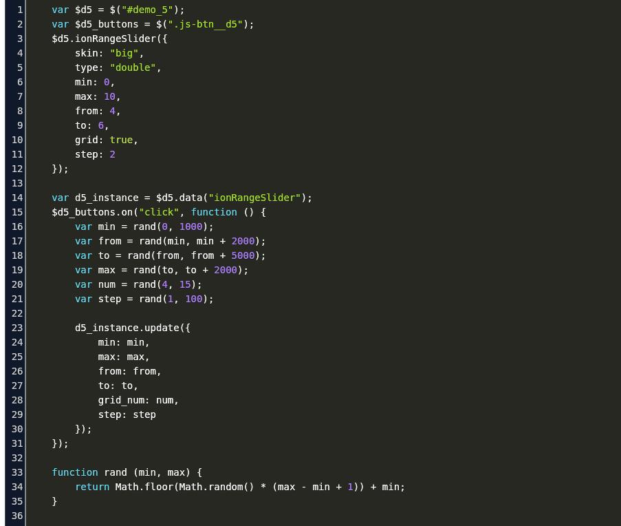 How To Reset Ion Range Slider Code Example