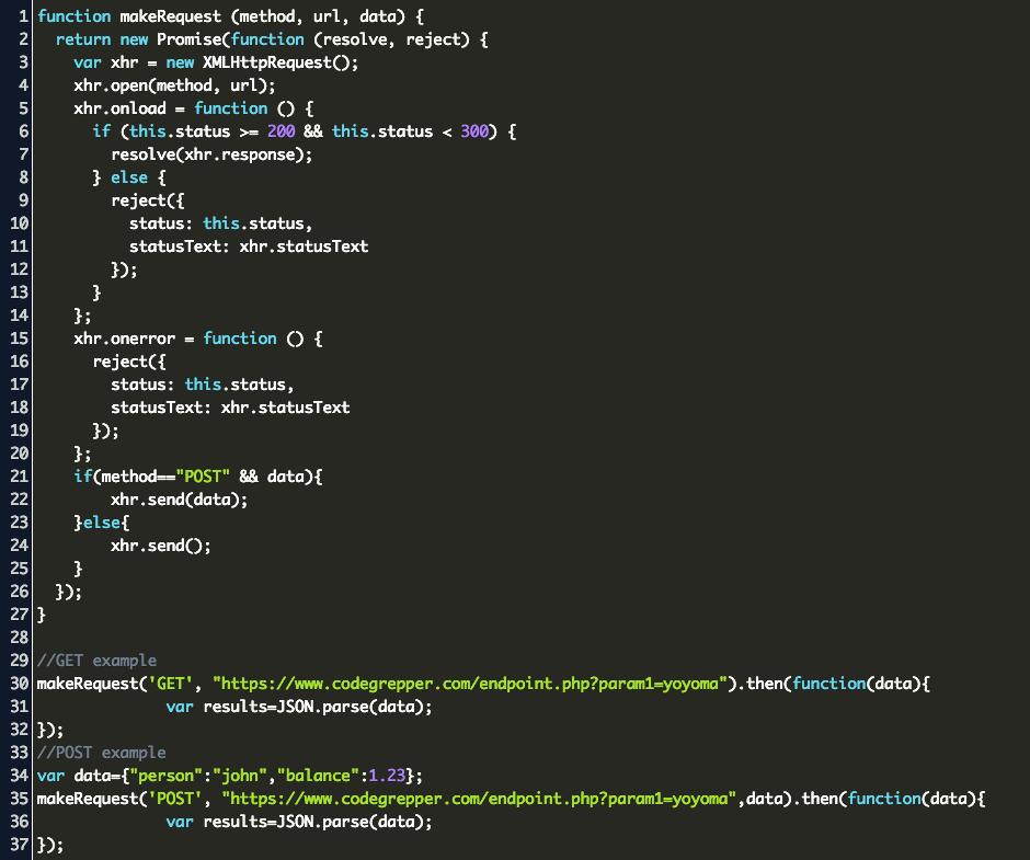 Javascript Ajax Request Code Example
