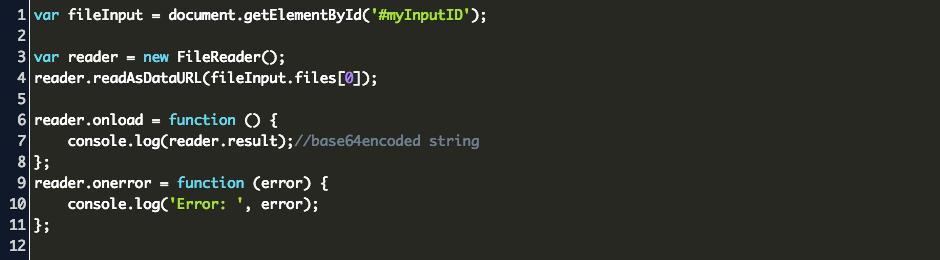 Javascript Base64 Encode File Input Code Example