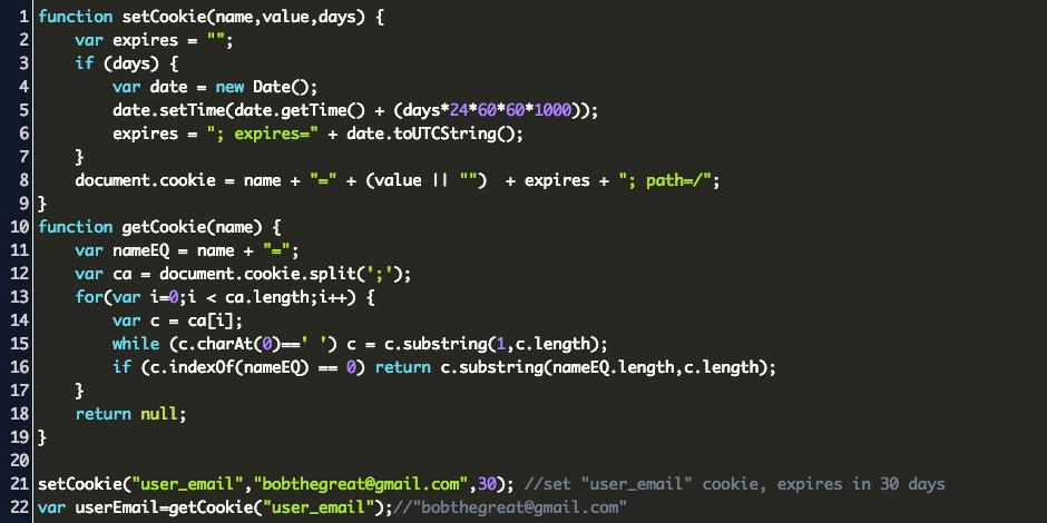 Javascript Create Cookie Code Example