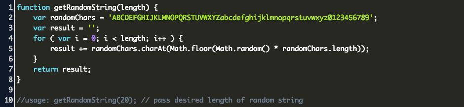 javascript get random string Code Example
