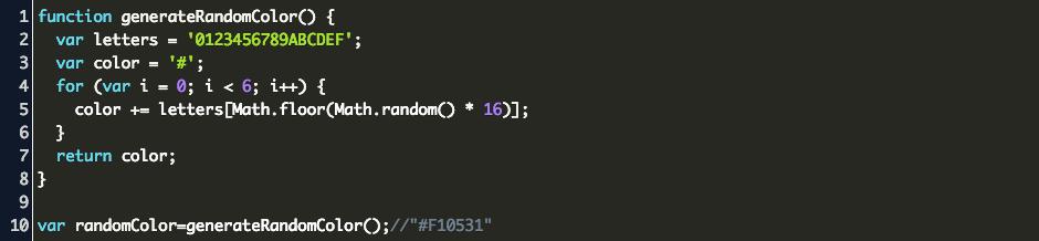 Javascript Random Color Generator Code Example