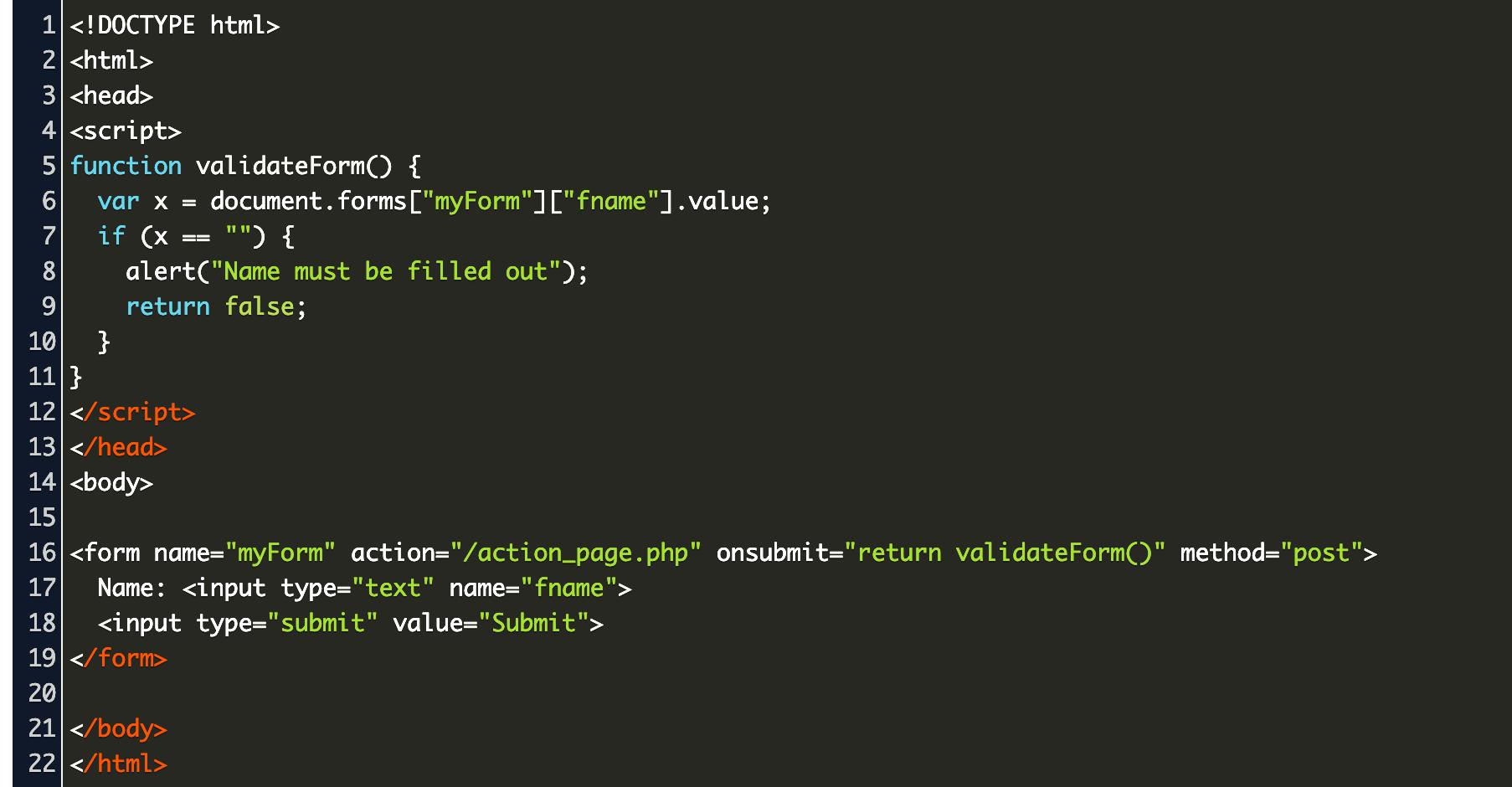 jquery validation w20schools Code Example