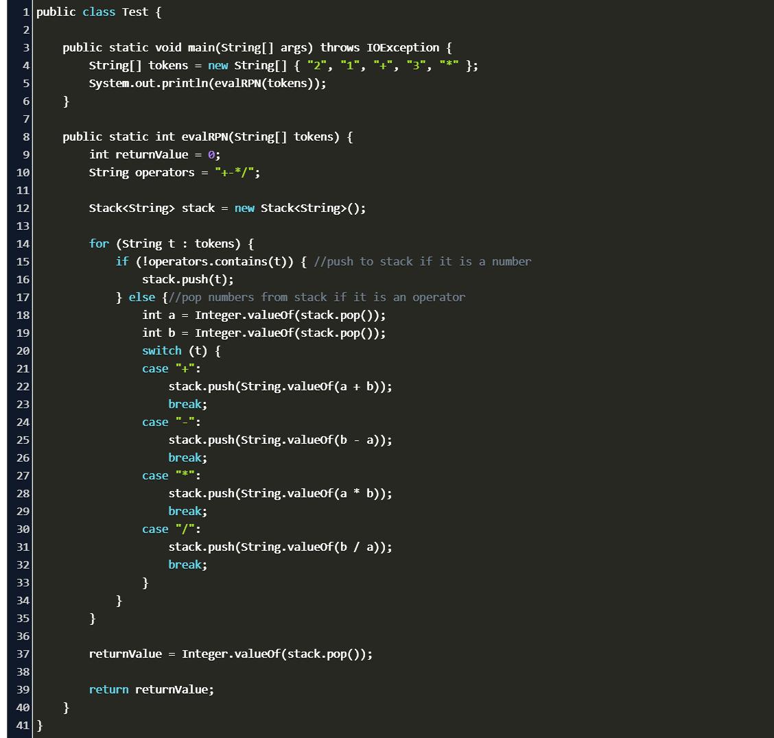 reverse polish notation java geeksforgeeks Code Example