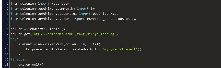 Selenium Bypass Implicit Wait Python Code Example