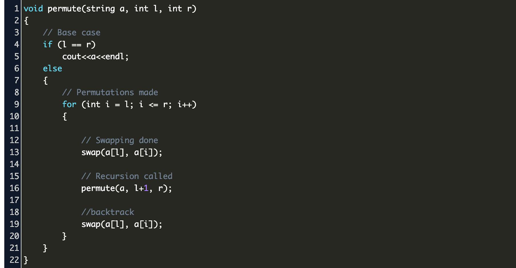 string permutation geeksforgeeks Code Example