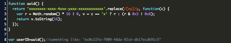 Uuid Javascript Code Example