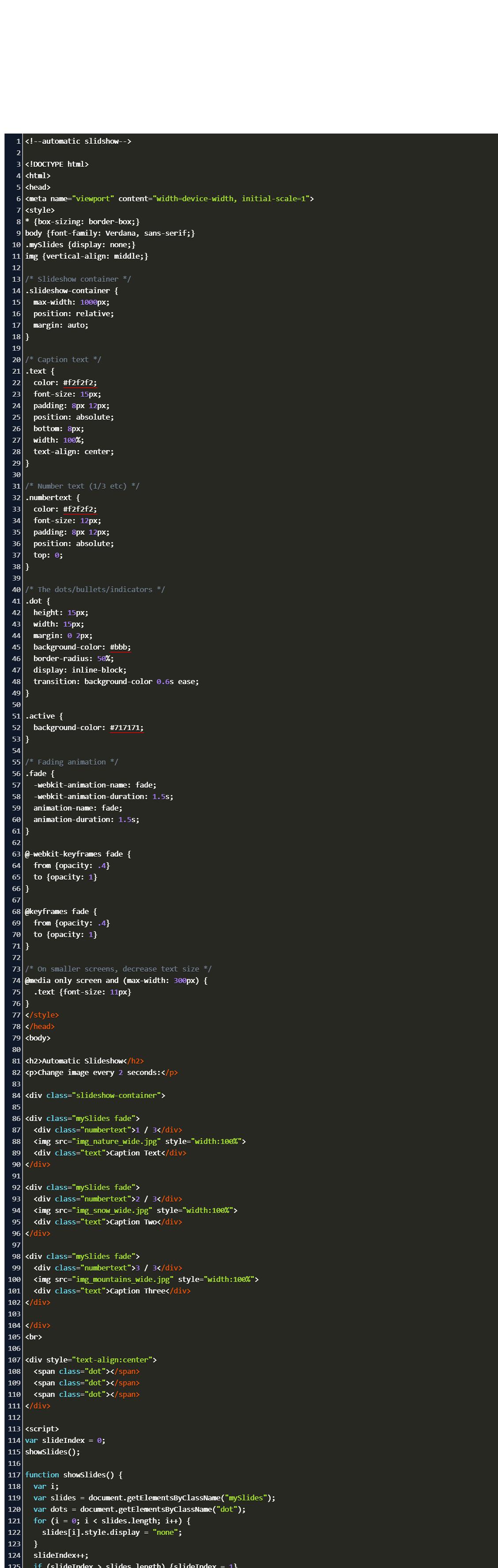 w20schools slider image Code Example